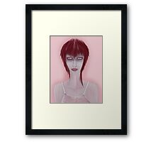Girl On Pink Framed Print