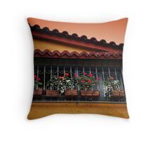 Greek City Scene 001 Throw Pillow