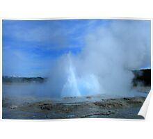 Geyser in Yellowstone Park Poster