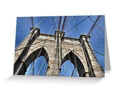 The Brooklyn Bridge, New York City Greeting Card