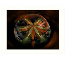 A Floral Globe for Autumn Art Print