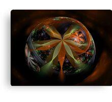 A Floral Globe for Autumn Canvas Print