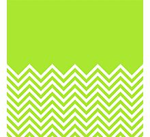 Lime-Green Chevrons with Solid Block Top Photographic Print