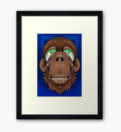 Silly Monkey Framed Print