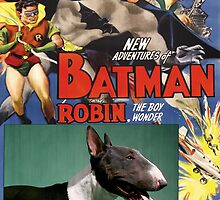 Bull Terrier Art - Batman Movie Poster by NobilityDogs
