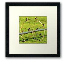 Birds On A Wheel Framed Print