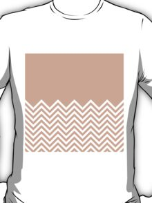 Peach Chevrons with Solid Block Top T-Shirt