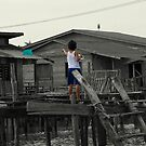 Malaysia: Boy and his kite by JLaverty