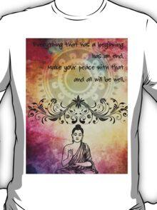 Zen Art Inspirational Buddha Quotes T-Shirt