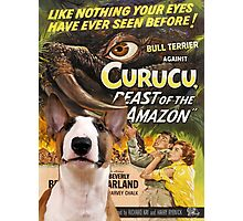 Bull Terrier Art - Curucu Movie Poster Photographic Print