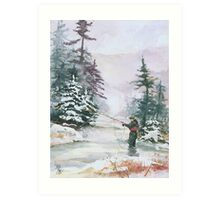 "Winter Magic - A very ""Wintery"" and Calm Fishing Scene Art Print"