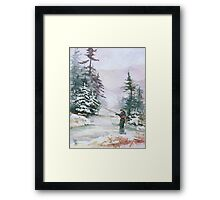 "Winter Magic - A very ""Wintery"" and Calm Fishing Scene Framed Print"