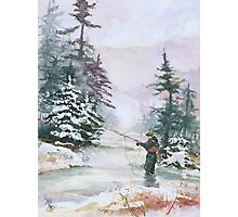 "Winter Magic - A very ""Wintery"" and Calm Fishing Scene Photographic Print"
