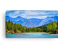 The Bow River - Banff, Alberta, Canada Canvas Print