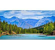 The Bow River - Banff, Alberta, Canada Photographic Print
