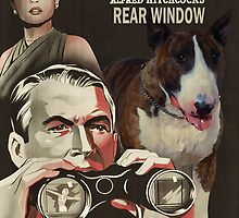 Bull Terrier Art - Rear Window Movie Poster by NobilityDogs