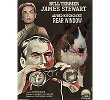 Bull Terrier Art - Rear Window Movie Poster Photographic Print
