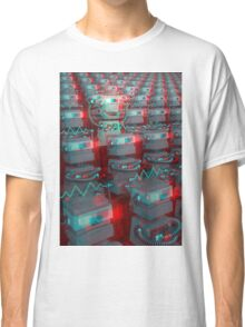 Retro 3D Robot Cinema Classic T-Shirt
