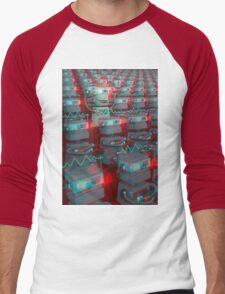 Retro 3D Robot Cinema Men's Baseball ¾ T-Shirt