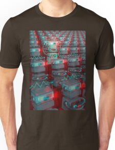 Retro 3D Robot Cinema Unisex T-Shirt