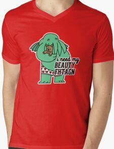 Beauty Fhtagn Mens V-Neck T-Shirt