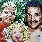 Peter Andre, Junior and Princess by artist Debbie Boyle - db artstudio by Deborah Boyle