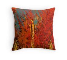 Deer Fire Throw Pillow