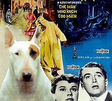Bull Terrier Art - The Man Who Knew Too Much Movie Poster by NobilityDogs