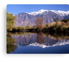 """""""Y"""" Mountain Reflections Canvas Print"""