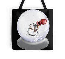 Nauseous Snowman Tote Bag