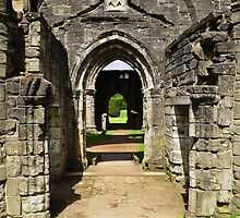 Archways at Dunkeld Cathedral. by Finbarr Reilly