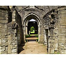 Archways at Dunkeld Cathedral. Photographic Print