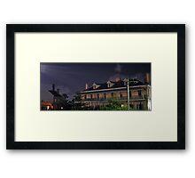 Night Streetscape - Juniper Hall, Oxford Street, Sydney Framed Print