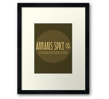 Dune - Arrakis Spice co. (version 2) Framed Print