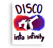 Disco into Infinity Canvas Print