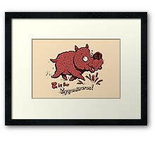 Z is for Zygomaturus! Framed Print