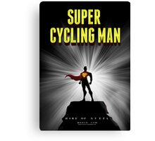 Super cycling man Canvas Print