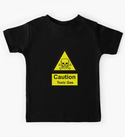 Caution Toxic Gas Kids Tee
