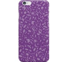 Creepy Crawly Pattern - Purple iPhone Case/Skin