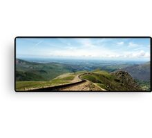 A view from Snowdon Canvas Print