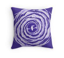 Galaxie spirale barrée (calendrier) Throw Pillow