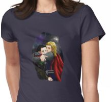 who needs a hug- thor/loki Womens Fitted T-Shirt