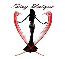 Stay unique-  Art + Products Design  Photographic Print