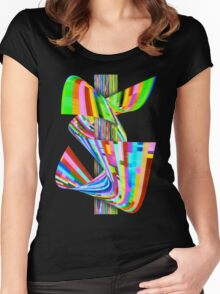 Ribbons of Digital DNA Women's Fitted Scoop T-Shirt