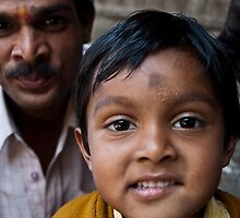 Indian boy and farher  by Erdj