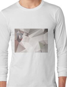 Abstract white gray triangles Long Sleeve T-Shirt