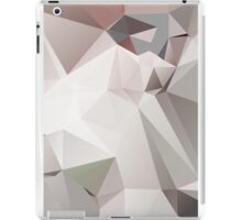 Abstract white gray triangles iPad Case/Skin