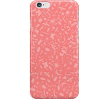 Creepy Crawly Pattern - Pink iPhone Case/Skin