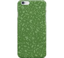 Creepy Crawly Pattern - Green iPhone Case/Skin