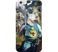 Bull Terrier Art - For King and Land iPhone Case/Skin